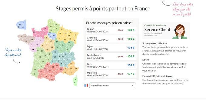 stage de récupération de points Rennes